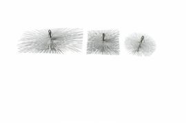 Erizo cepillo deshollinador acero con 2 argollas for Cepillo deshollinador chimeneas